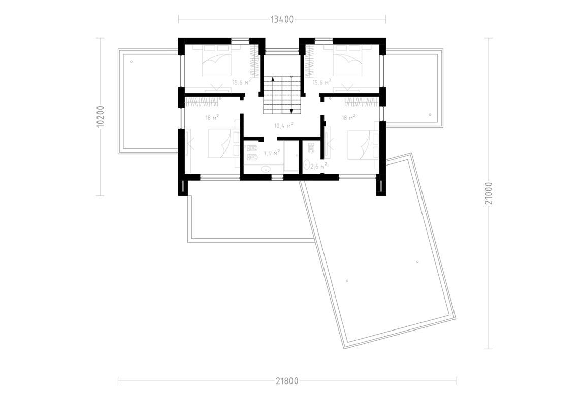 План N2 проекта ВИП дома АСД-1899