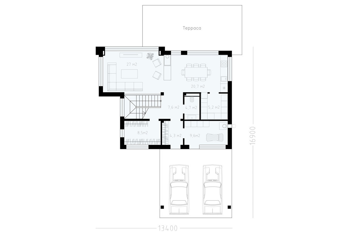 План N1 проекта ВИП дома АСД-1900