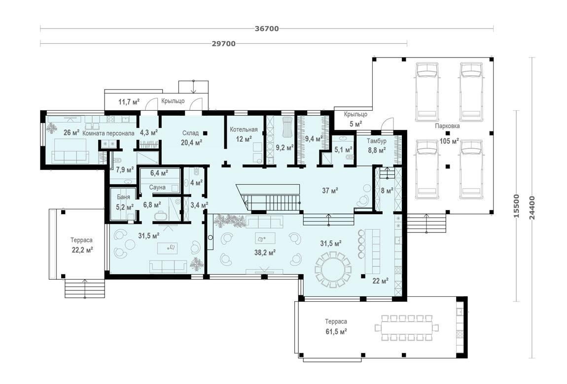 План N1 проекта ВИП дома АСД-1902