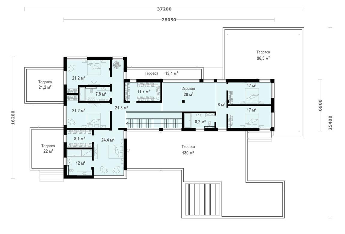План N2 проекта ВИП дома АСД-1902