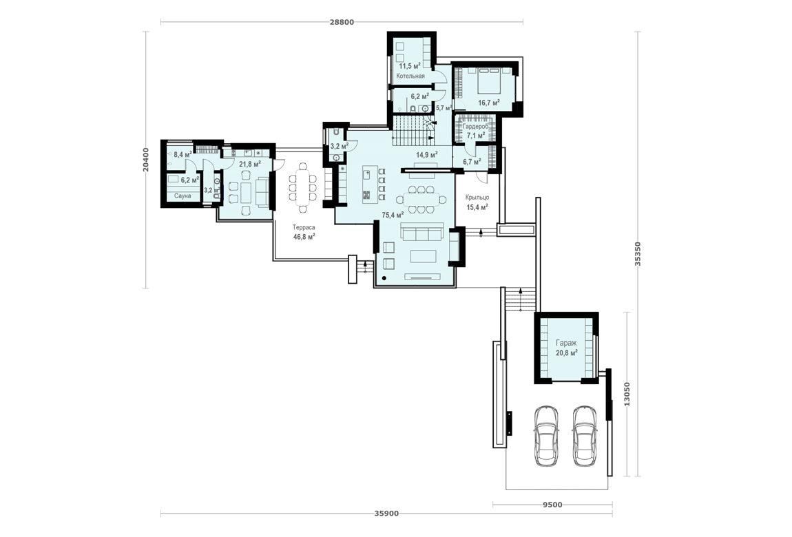 План N1 проекта ВИП дома АСД-1904