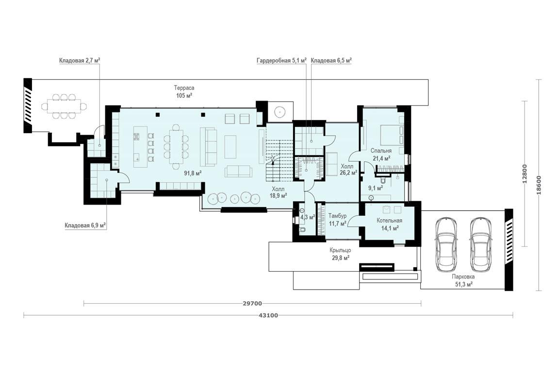 План N1 проекта ВИП дома АСД-1906