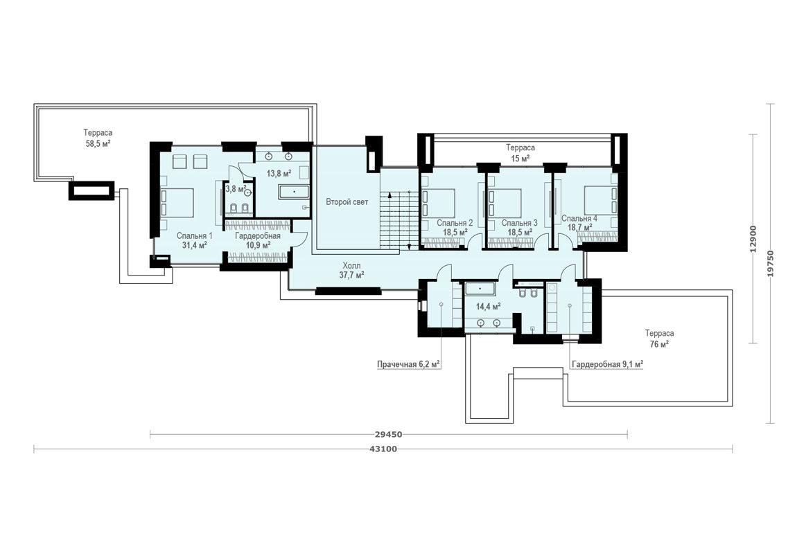 План N2 проекта ВИП дома АСД-1906