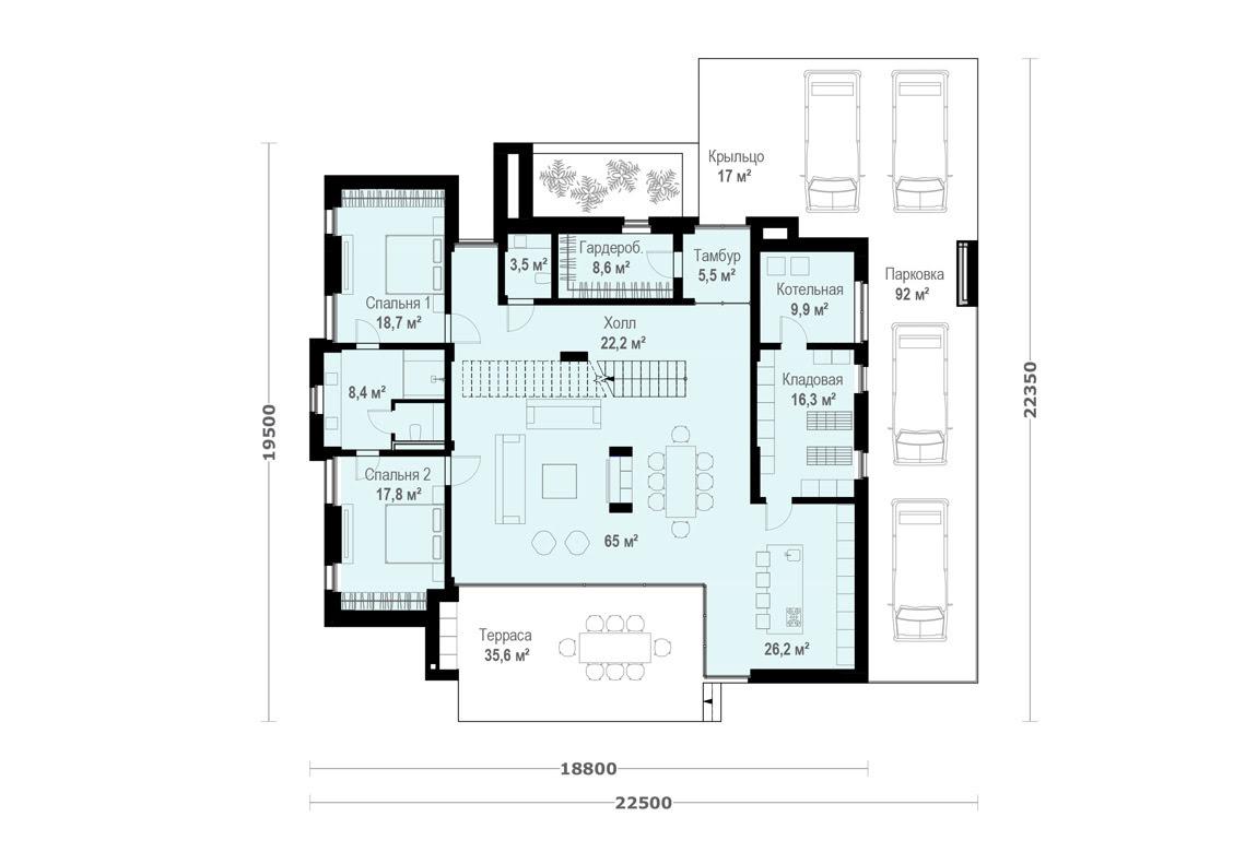 План N1 проекта ВИП дома АСД-1912