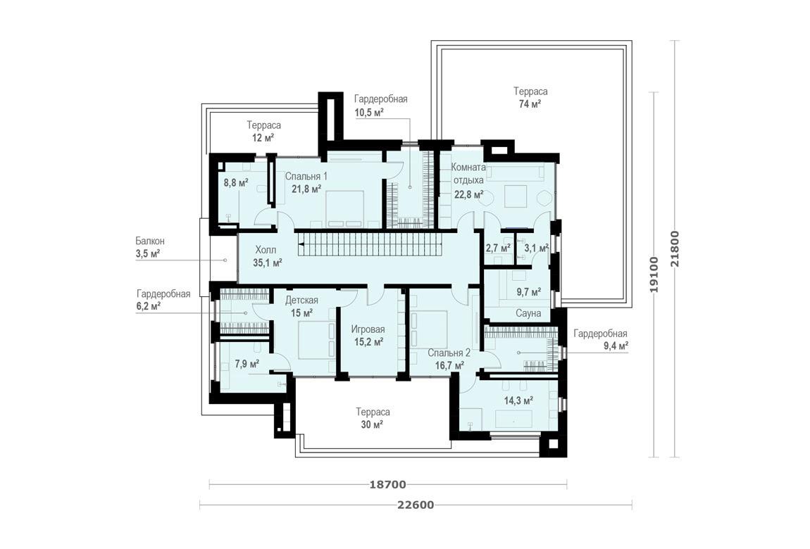 План N2 проекта ВИП дома АСД-1912