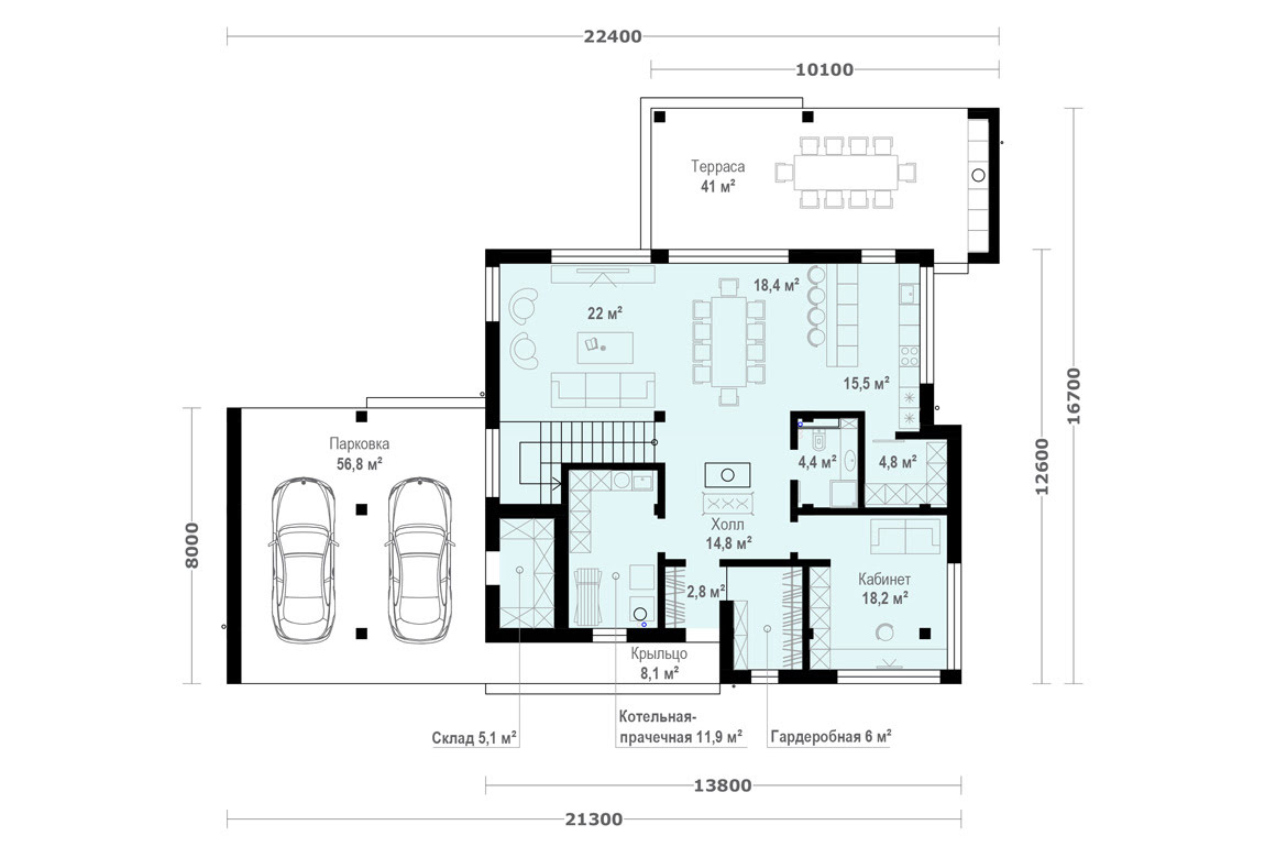 План N1 проекта ВИП дома АСД-1924