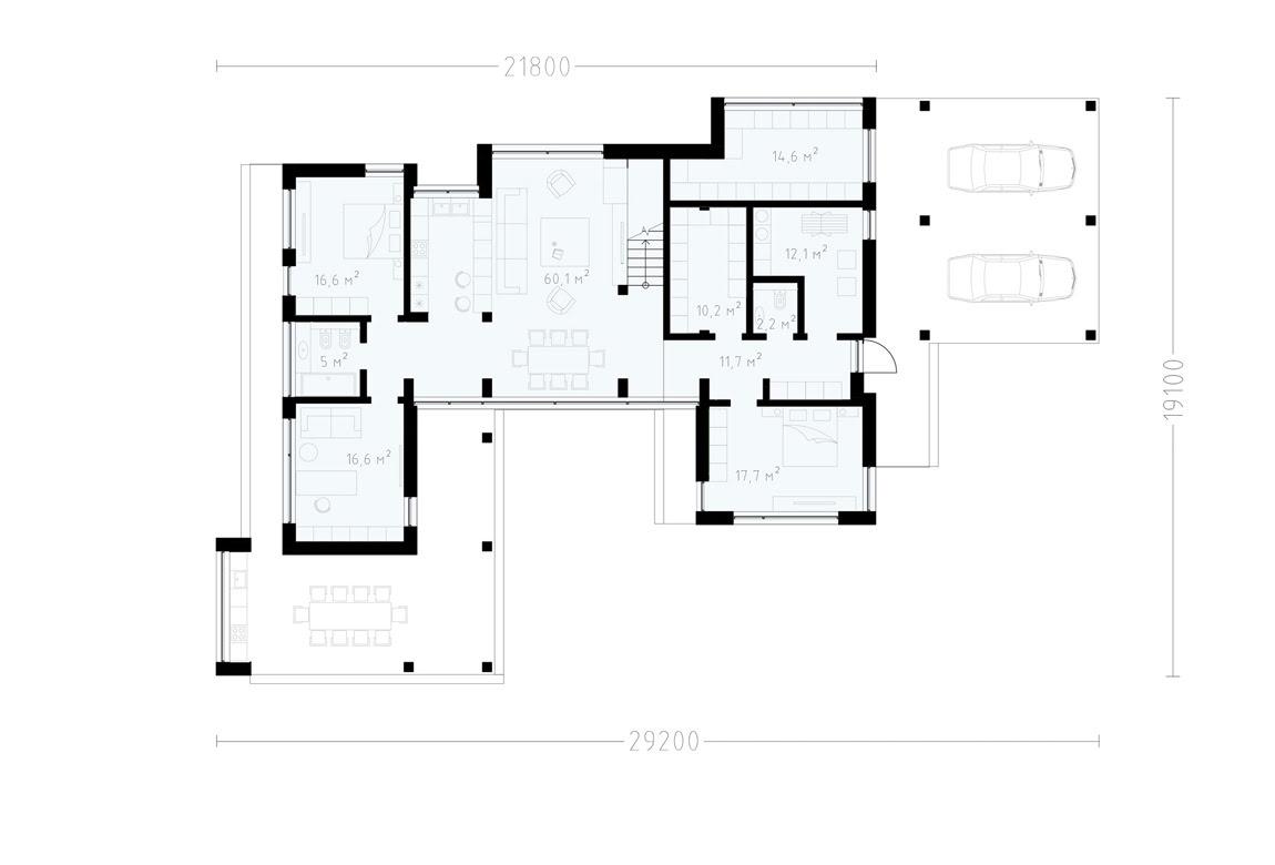 План N1 проекта ВИП дома АСД-1925