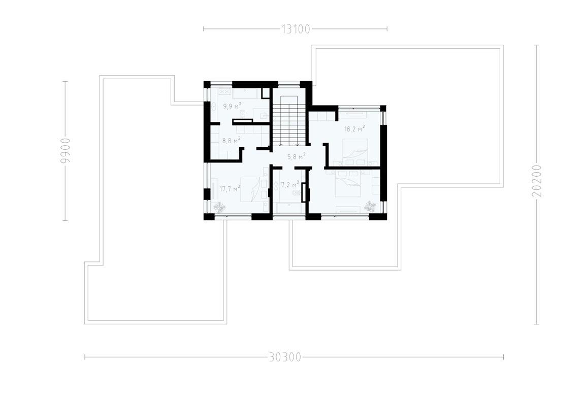 План N2 проекта ВИП дома АСД-1925