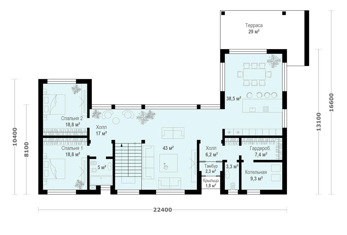План N1 проекта ВИП дома АСД-1930