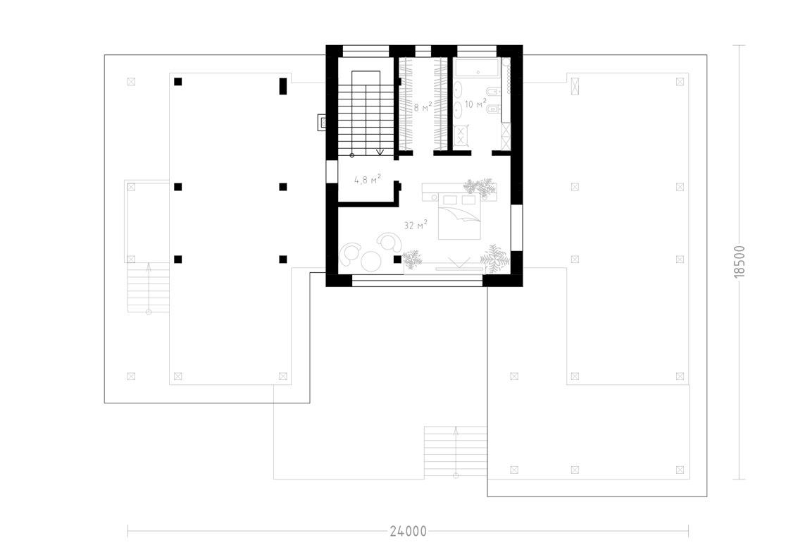 План N2 проекта ВИП дома АСД-1934