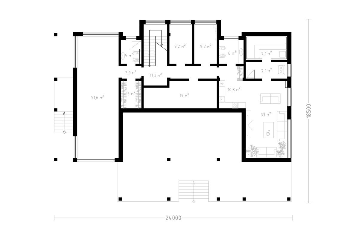 План N3 проекта ВИП дома АСД-1934