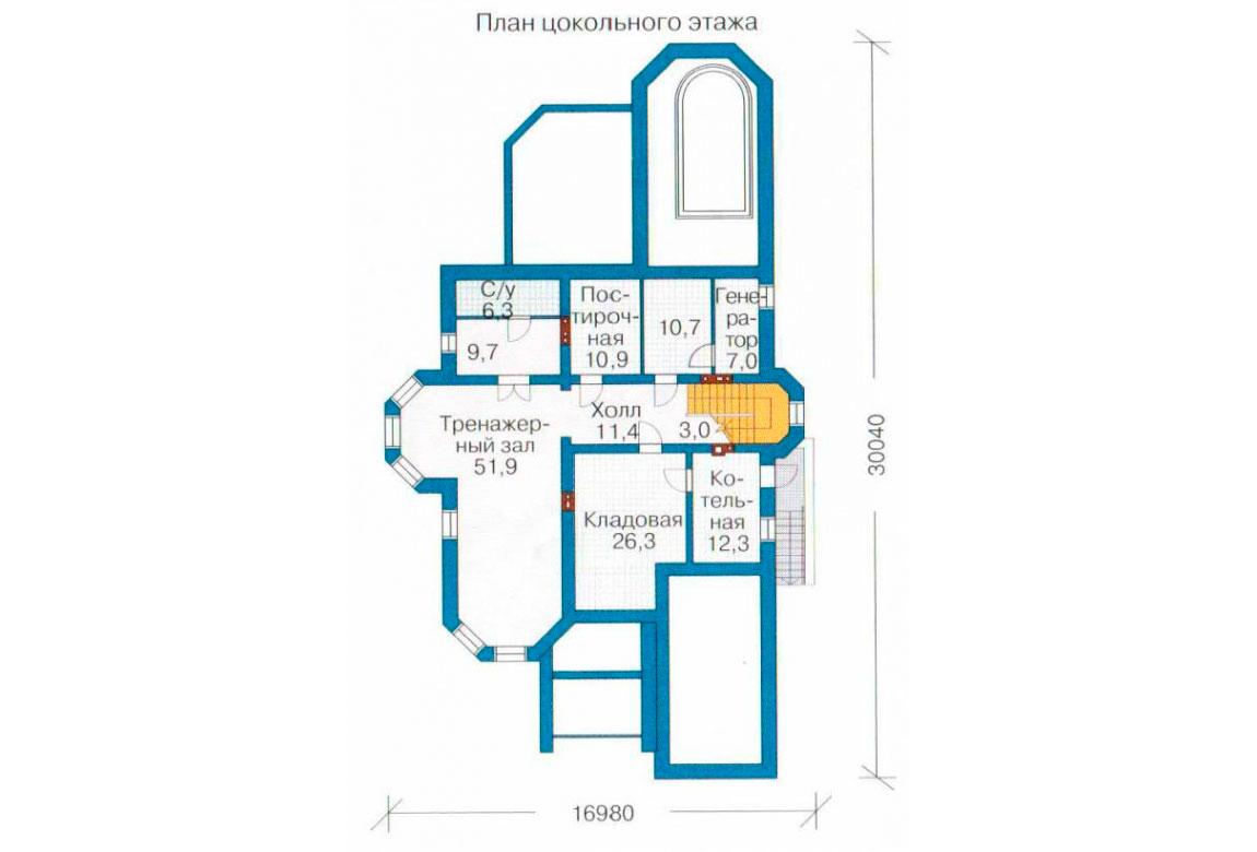 План N1 проекта ВИП дома АСД-1094