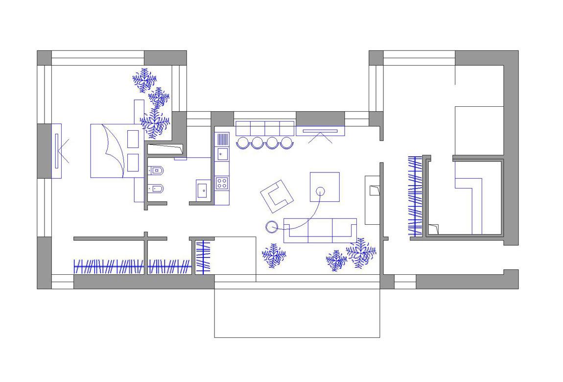 План N1 проекта кирпичного дома АСД-1928