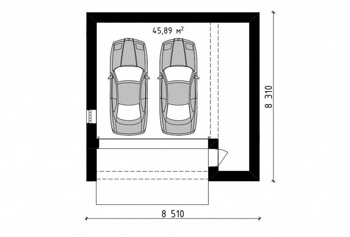 План N1 проекта гаража АСД-1942