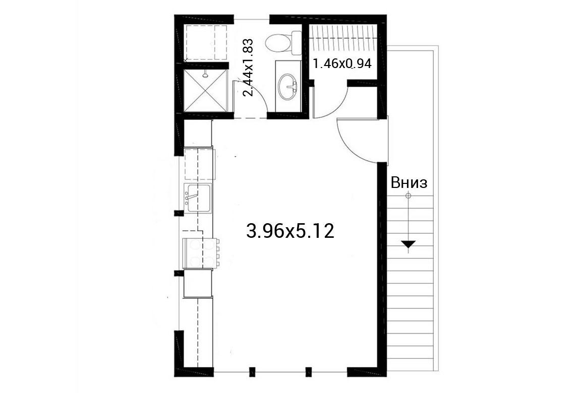 План N2 проекта гаража АСД-1943