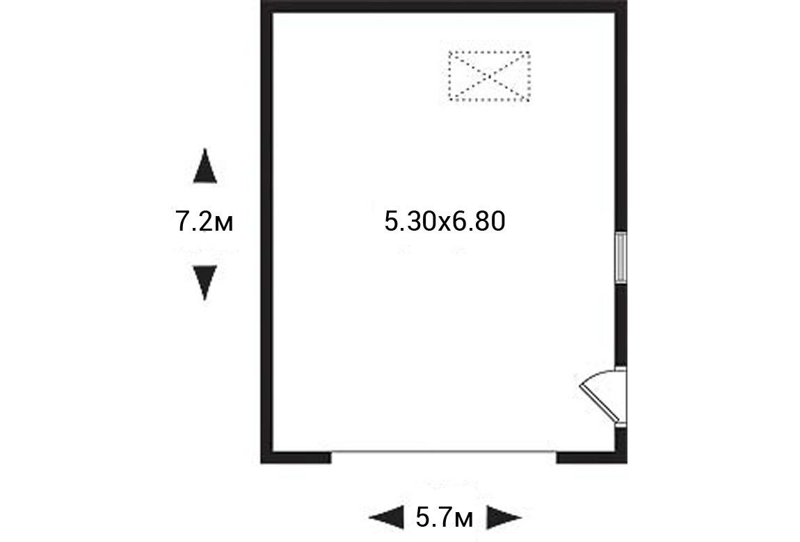 План N1 проекта гаража АСД-1945
