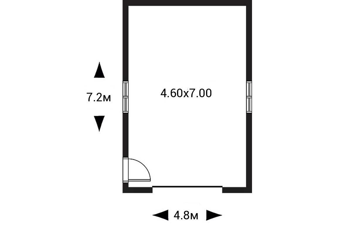 План N1 проекта гаража АСД-1946