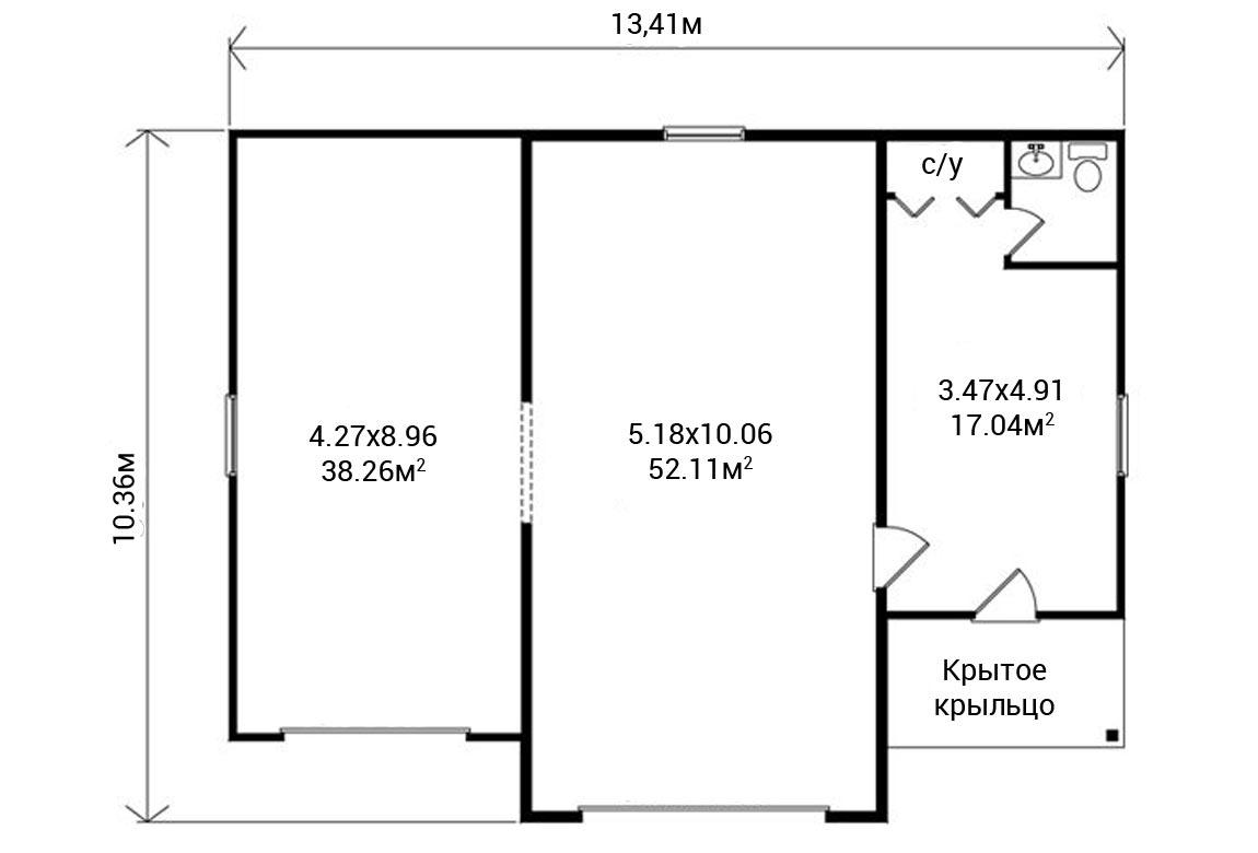 План N1 проекта гаража АСД-1947