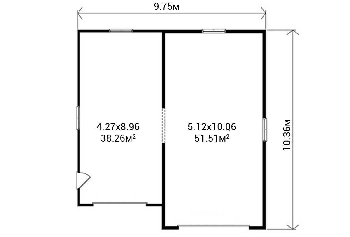 План N1 проекта гаража АСД-1948