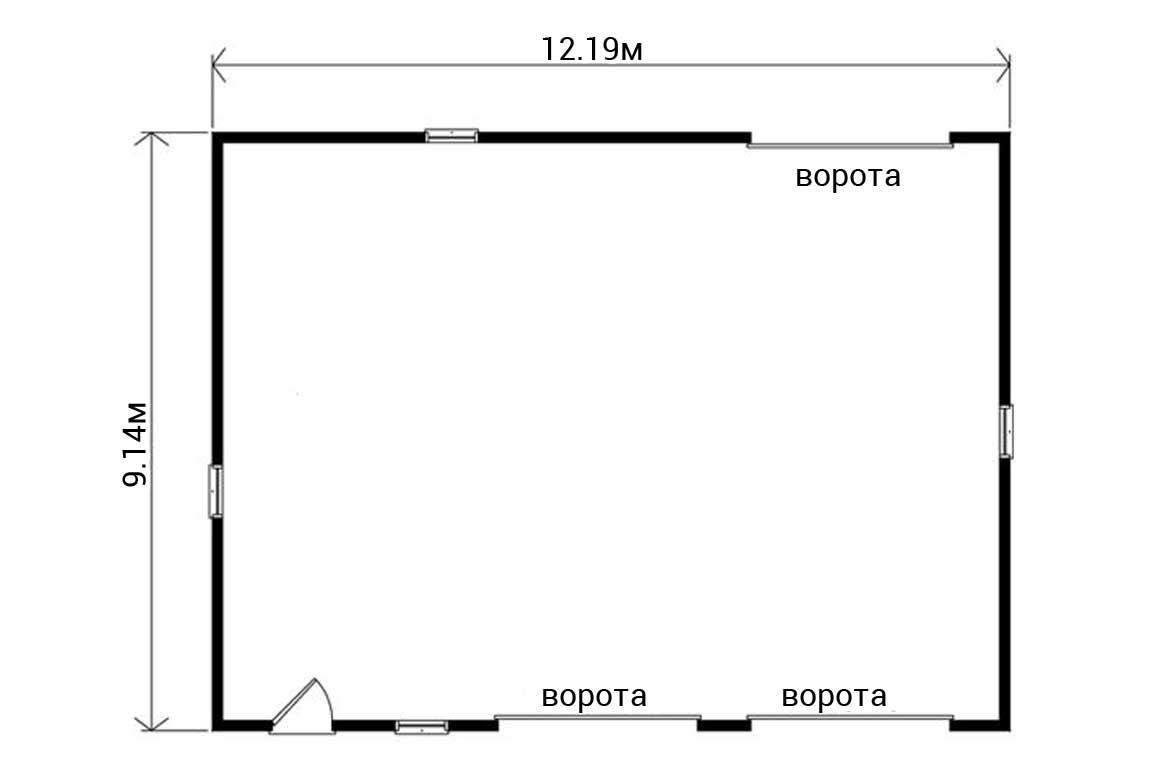 План N1 проекта гаража АСД-1949