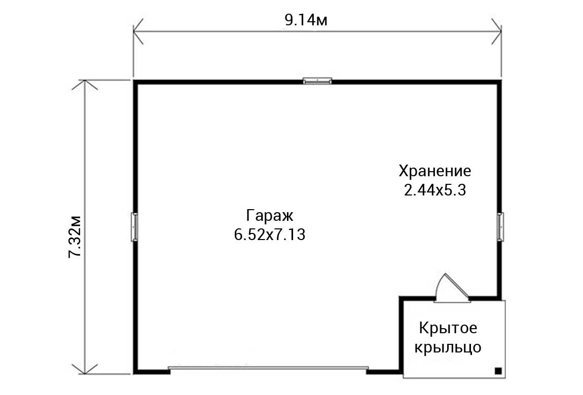 План N1 проекта гаража АСД-1950