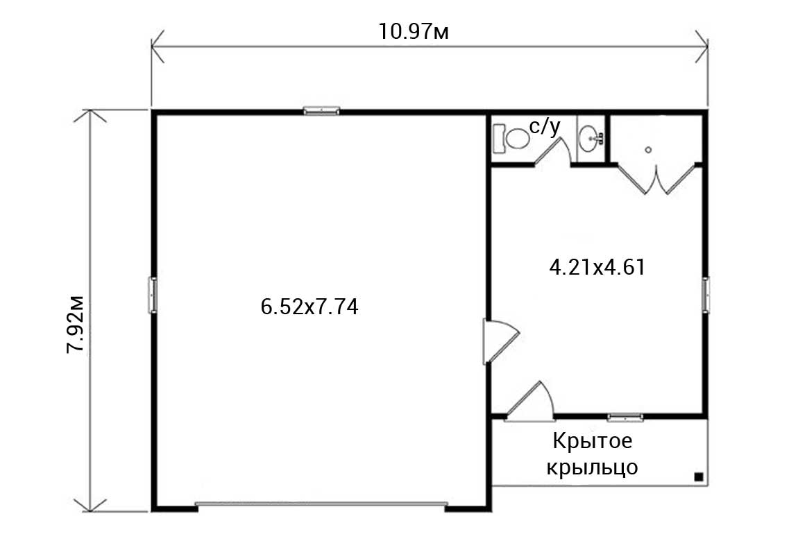 План N1 проекта гаража АСД-1951