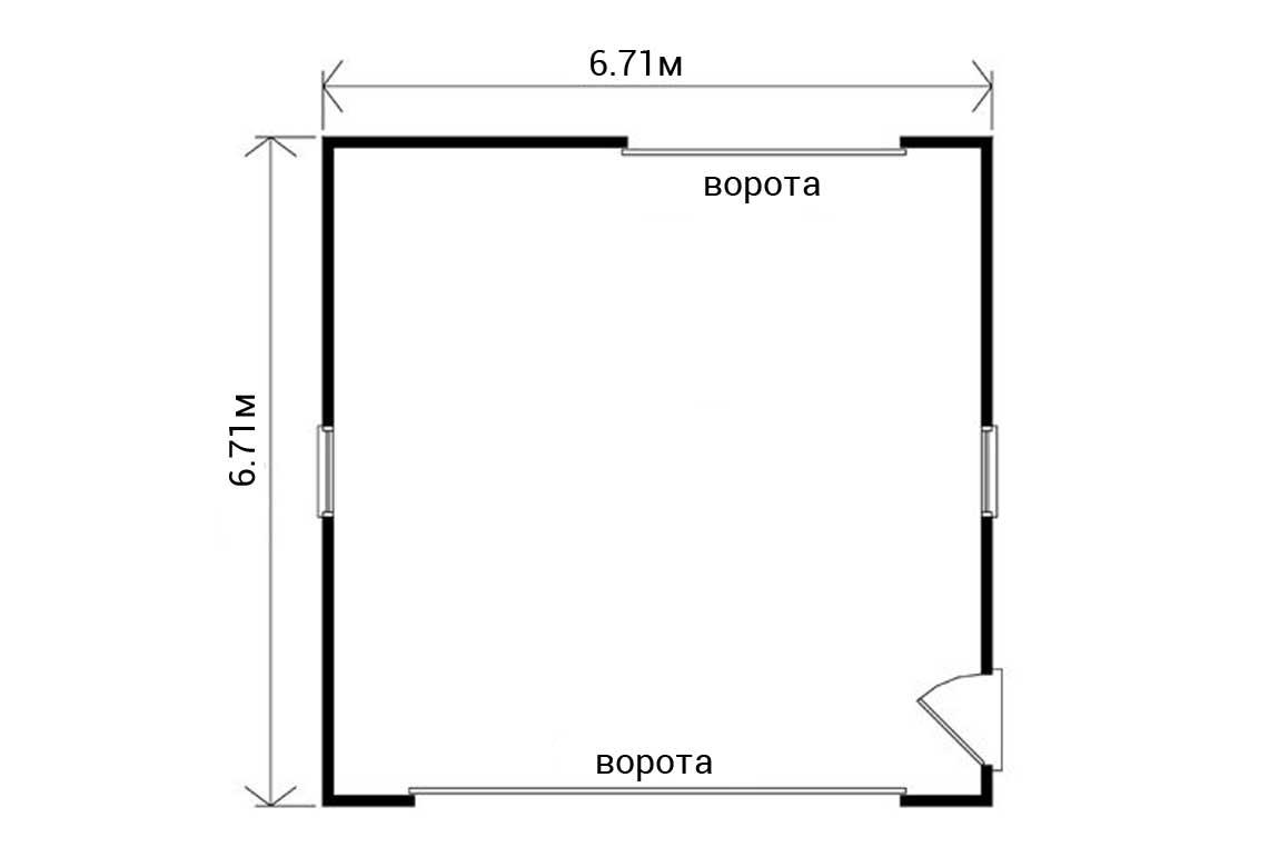 План N1 проекта гаража АСД-1953
