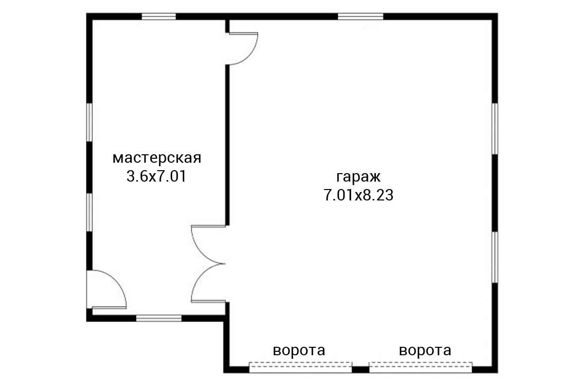 План N1 проекта гаража АСД-1956