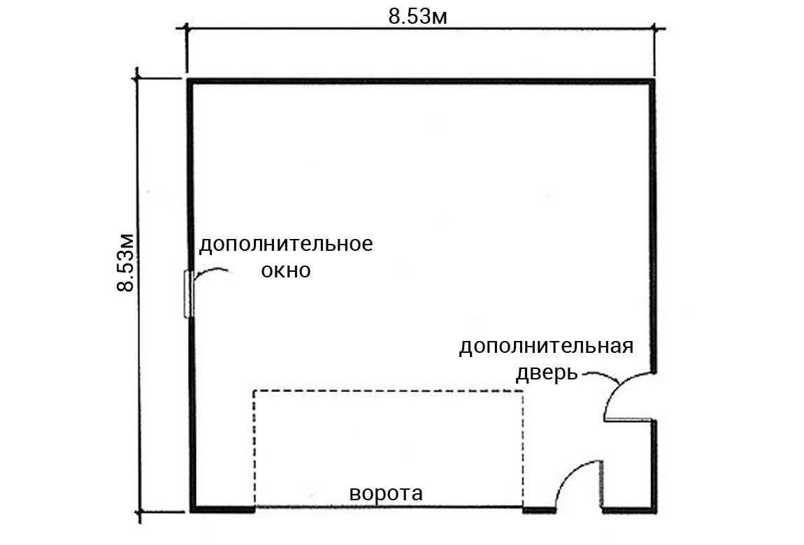 План N1 проекта гаража АСД-1958