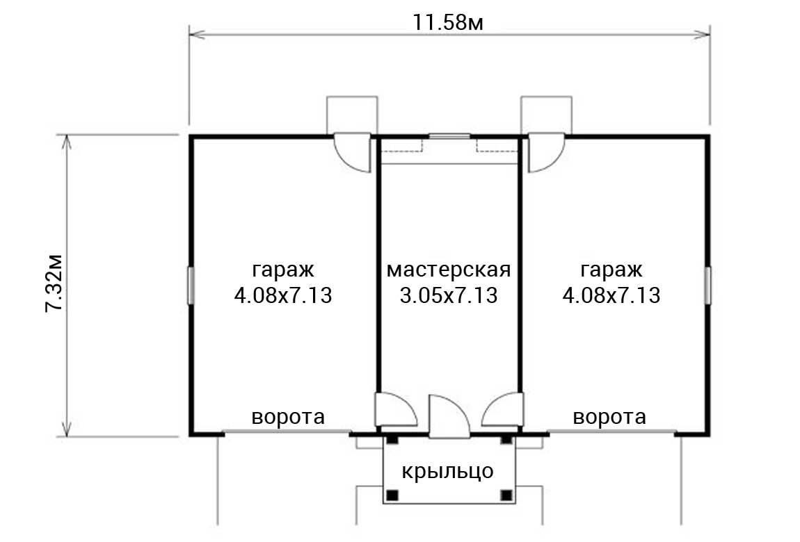 План N1 проекта гаража АСД-1959