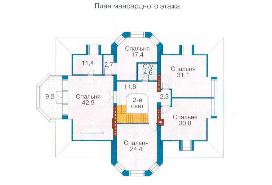 План N1 проекта ВИП дома АСД-1098