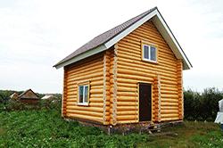 Бревенчатая баня в Краснознаменске