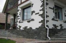 Отделка фасада искусственным камнем