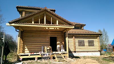 Баня – гостевой дом из оцилиндрованного бревна