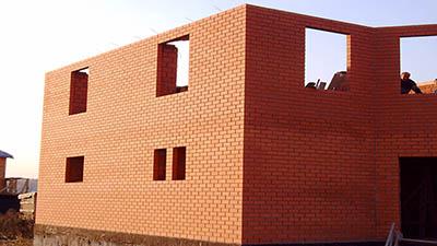 Стены из пустотелого кирпича