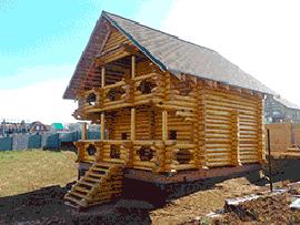 Баня из бревна в Ясногорске