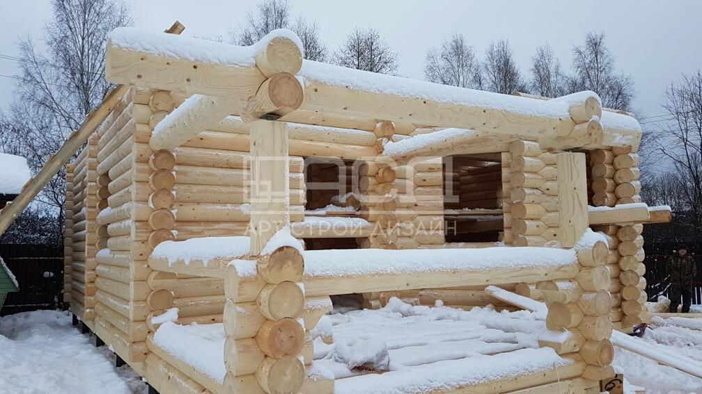 Дом из оцилиндрованного бревна в Нарофоминске