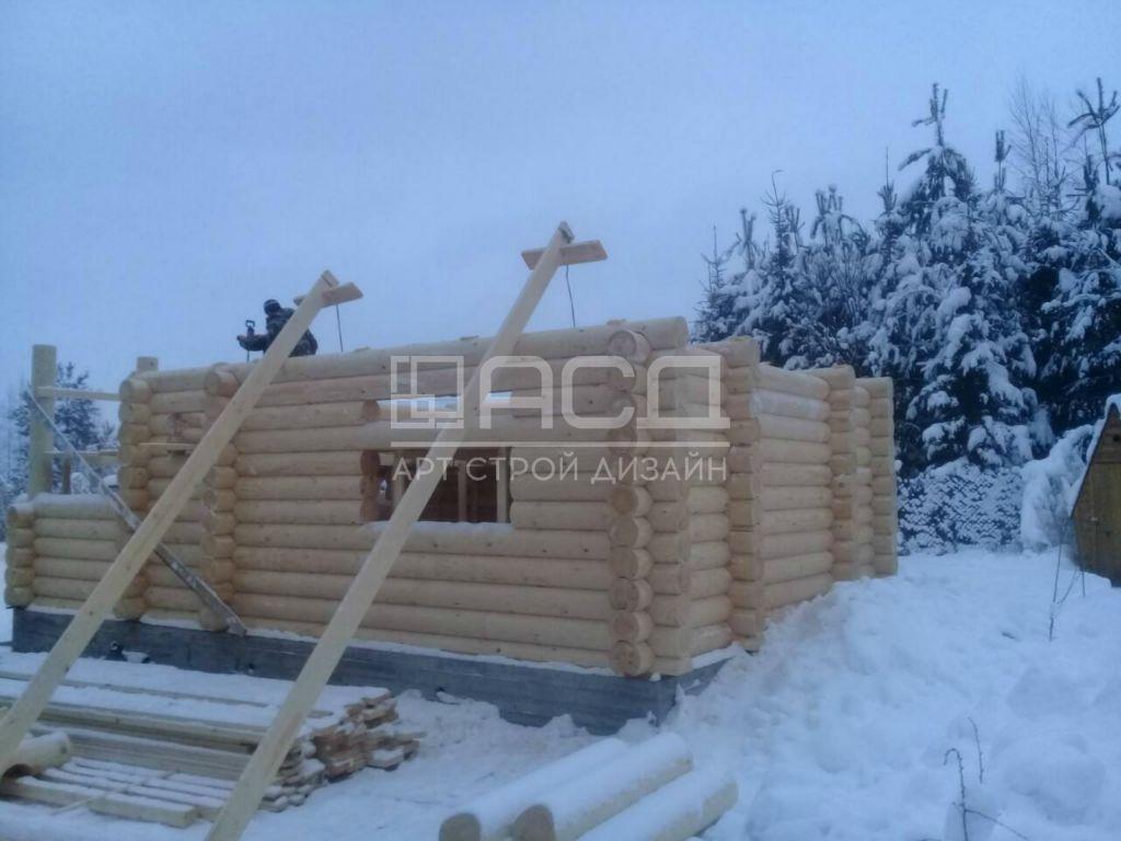 Дом из оцилиндрованного бревна в Ивантеевке