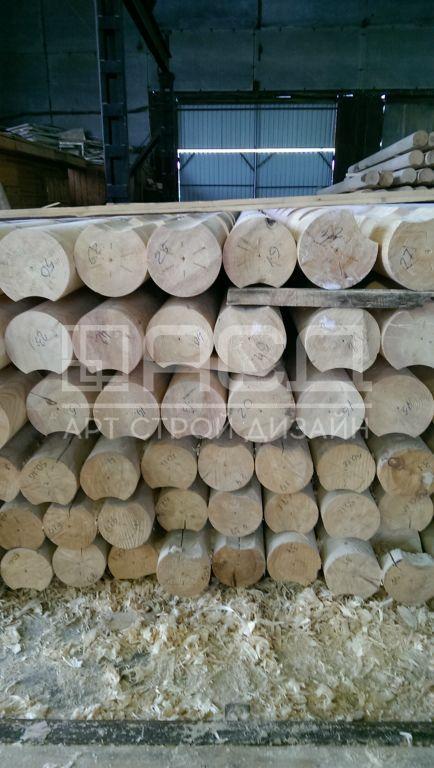 Производство оцилиндрованного бревна в Кирове