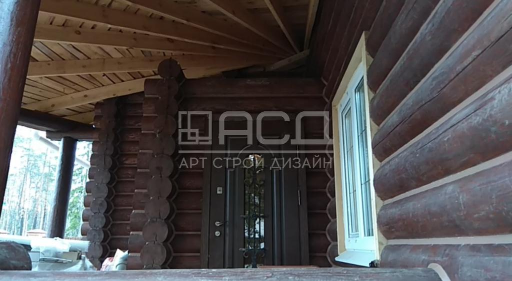 Дом из оцилиндрованного бревна в Тульской области