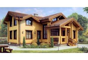 Дом из профилированного бруса 12-25