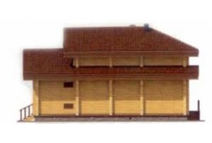 Дом из клееного бруса по проекту 12-25