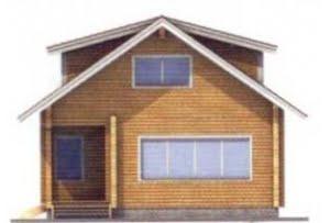 Проект дома из клееного бруса 11-75