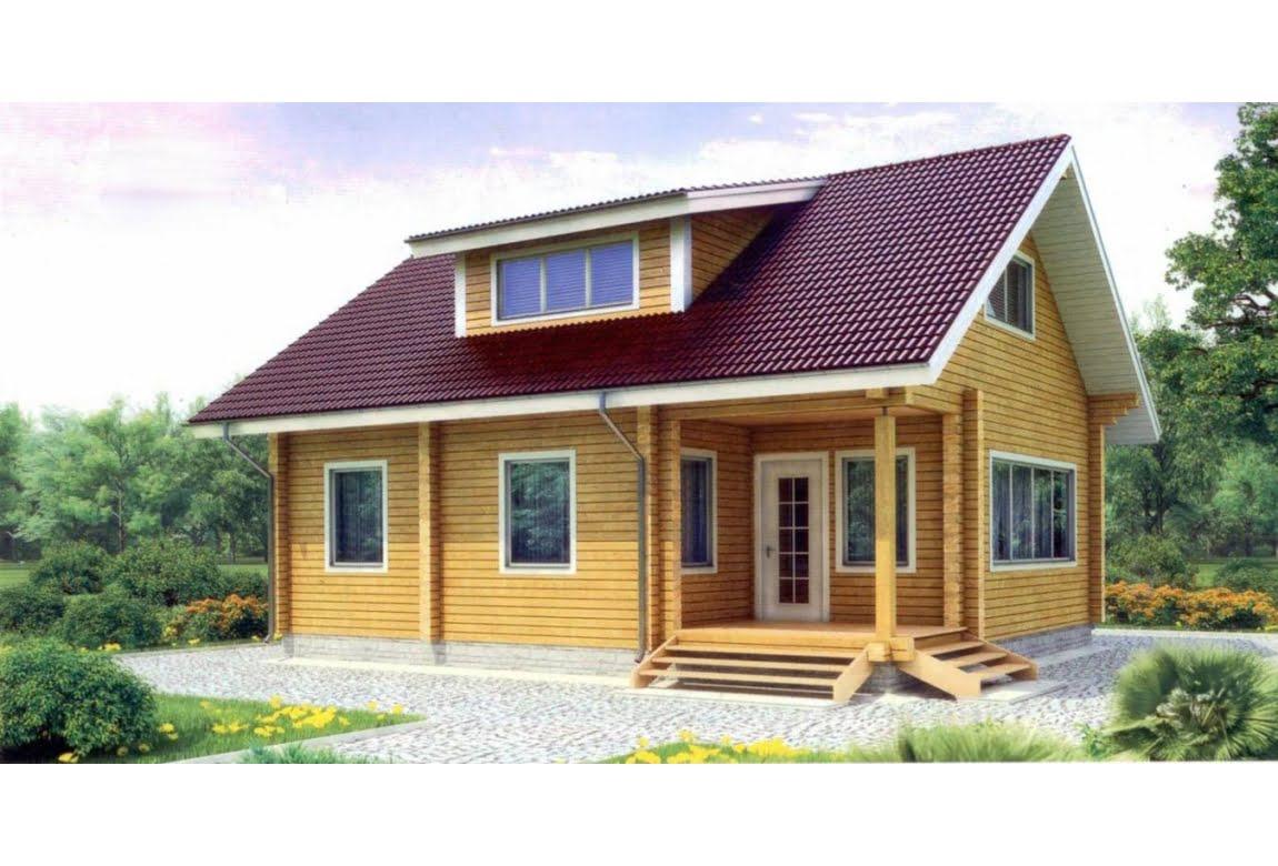 Деревянный дом по проекту 11-75