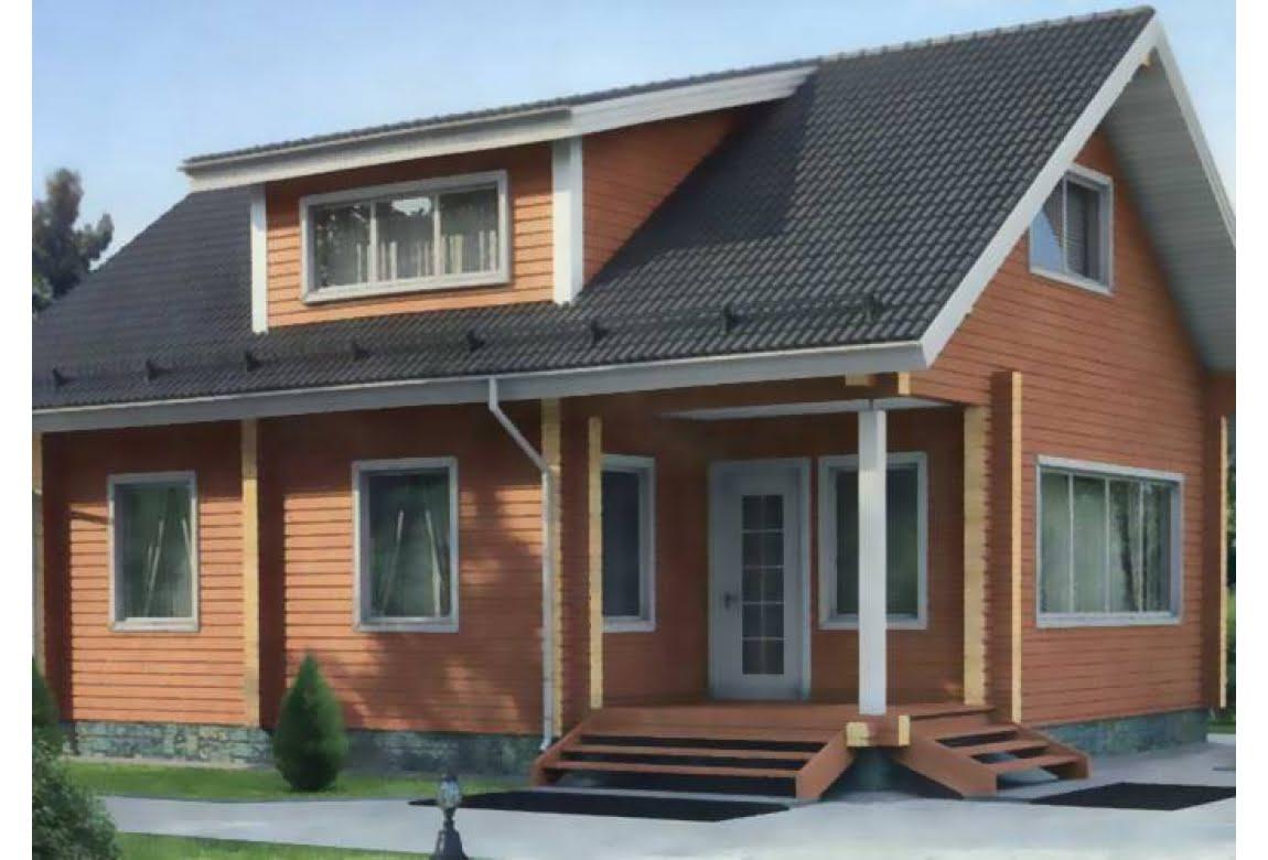 Деревянный дом по проекту 11-95