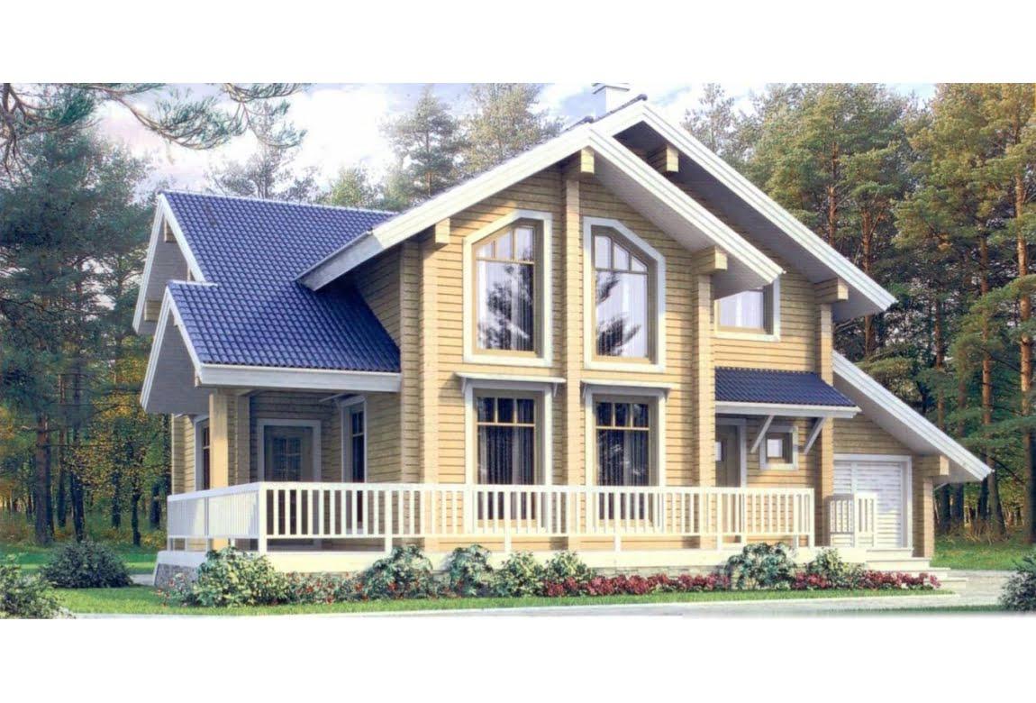 Дом из клееного бруса по проекту 11-06