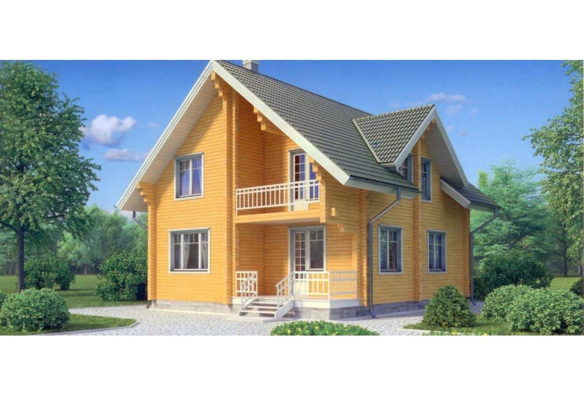 Дом из клееного бруса по проекту 11-71