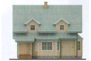 Проект дома из клееного бруса 11-35