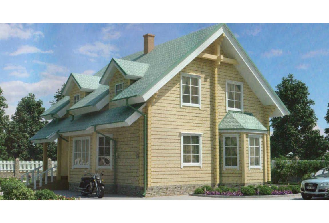 Дом из клееного бруса по проекту 11-35