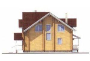 Проект дома из клееного бруса 11-39